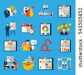 scrum agile development... | Shutterstock . vector #543505852