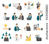effective business management... | Shutterstock . vector #543508882