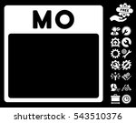 monday calendar page pictograph ... | Shutterstock .eps vector #543510376