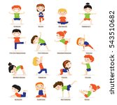 cute children boys and girls in ... | Shutterstock . vector #543510682