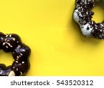 pondering donuts on yellow... | Shutterstock . vector #543520312