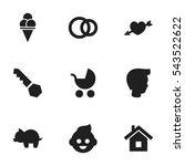 set of 9 editable folks icons....