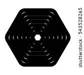 hexagonal shape in black and... | Shutterstock .eps vector #543528265