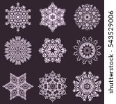 abstract snow flakes background.... | Shutterstock .eps vector #543529006