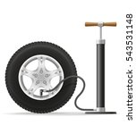 car hand air pump stock vector... | Shutterstock .eps vector #543531148