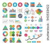 business charts. growth graph.... | Shutterstock .eps vector #543533422