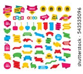 web stickers  banners and... | Shutterstock .eps vector #543535096