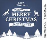 merry christmas | Shutterstock .eps vector #543535936