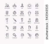 set of icons and symbols for... | Shutterstock .eps vector #543543535