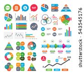 business charts. growth graph.... | Shutterstock .eps vector #543545176