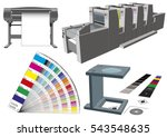 graphic arts tools and... | Shutterstock .eps vector #543548635