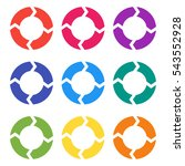 vector circle arrows for... | Shutterstock .eps vector #543552928