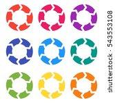 vector circle arrows for... | Shutterstock .eps vector #543553108