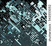 complex pixel pattern... | Shutterstock .eps vector #543555052