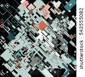 complex pixel pattern... | Shutterstock .eps vector #543555082