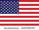 united states flag. vector...