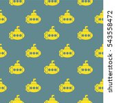 retro seamless pattern with... | Shutterstock .eps vector #543558472