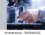 3d printing in progress | Shutterstock . vector #543566332