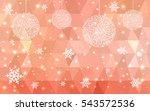light red christmas postcard... | Shutterstock .eps vector #543572536