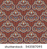 vintage paisley seamless... | Shutterstock .eps vector #543587095
