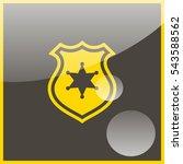 police badge illustration. | Shutterstock .eps vector #543588562