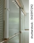 roller shutter door in... | Shutterstock . vector #543597292