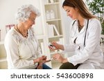 young female doctor making... | Shutterstock . vector #543600898