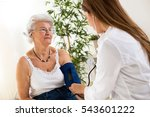 female doctor checking blood... | Shutterstock . vector #543601222