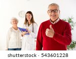 senior man smiling with his... | Shutterstock . vector #543601228
