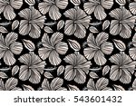 floral on a black background.... | Shutterstock . vector #543601432