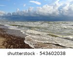 the baltic seashore in... | Shutterstock . vector #543602038