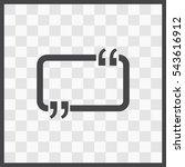 speech bubble vector icon.... | Shutterstock .eps vector #543616912