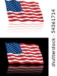 american flag flowing | Shutterstock .eps vector #54361714