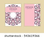 design flyer brochure design.... | Shutterstock .eps vector #543619366