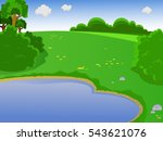 summer landscape. landscape... | Shutterstock .eps vector #543621076