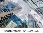 looking up at business... | Shutterstock . vector #543626266
