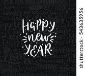 merry christmas quote  vector...   Shutterstock .eps vector #543635956