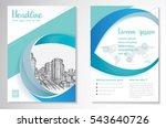 vector brochure flyer design... | Shutterstock .eps vector #543640726