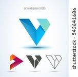 vector logo icon design set... | Shutterstock .eps vector #543641686