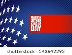 martin luther king jr day sign... | Shutterstock .eps vector #543642292