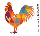 tribal rooster to print on... | Shutterstock .eps vector #543646072