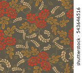 seamless red and brown flower... | Shutterstock .eps vector #543646516