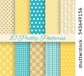 bright retro seamless pattern... | Shutterstock .eps vector #543649156
