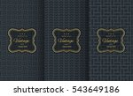 golden vintage pattern on black ... | Shutterstock .eps vector #543649186