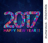 2017 year wallpaper. happy new... | Shutterstock .eps vector #543654406
