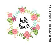 floral wreath with a phrase ... | Shutterstock .eps vector #543665416