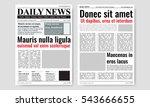 vintage newspaper journal... | Shutterstock .eps vector #543666655