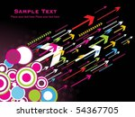 abstract black background with... | Shutterstock .eps vector #54367705