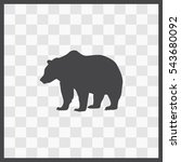 bear vector icon. isolated... | Shutterstock .eps vector #543680092