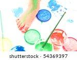 little girl paint   Shutterstock . vector #54369397